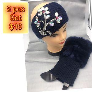 Accessories - 2 pcs set head band and leg warmers $10